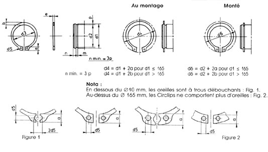 CIRCLIPS EXTERIEUR 12 mm DIN 471-70 CIRCLIPS